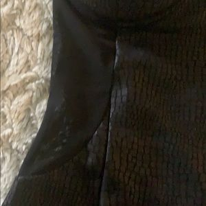 Dresses - Black faux snake skin mini dress zipper back